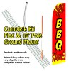 BBQ (Red)  Feather Banner Flag Kit (Flag, Pole, & Ground Mt)