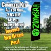 ZUMBA FITNESS Black and Green Feather Flutter Flag Kit