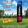 ZUMBA FITNESS Black/Dancing Flutter Feather Flag Only