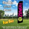 ZUMBA FITNESS Black and Hot Pink Flutter Feather Flag Only