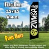 ZUMBA FITNESS Black and White Flutter Feather Flag Only