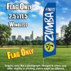 ZUMBA FITNESS Blue and White Flutter Feather Flag Only