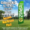 ZUMBA FITNESS Green and White Feather Flutter Flag Kit