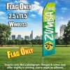 ZUMBA FITNESS Light Green and White Flutter Feather Flag Only