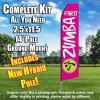 ZUMBA FITNESS Hot Pink and White Feather Flutter Flag Kit