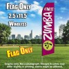 ZUMBA FITNESS Magenta and White Flutter Feather Flag Only