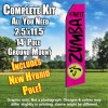 ZUMBA FITNESS Hot Pink and Black Feather Flutter Flag Kit