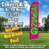 ZUMBA FITNESS Pink and Neon Green Feather Flutter Flag Kit