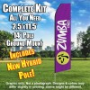 ZUMBA FITNESS  Feather Banner Flag Kit (Flag, Pole, & Ground Mt)