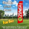 ZUMBA FITNESS Red and White Flutter Feather Flag Only