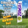 ZUMBA FITNESS White and Purple Feather Flutter Flag Kit