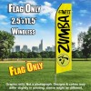 ZUMBA FITNESS Yellow and Black Flutter Feather Flag Only