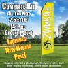 ZUMBA FITNESS Yellow and White Feather Flutter Flag Kit