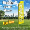 ZUMBA FITNESS Yellow and White Flutter Feather Flag Only