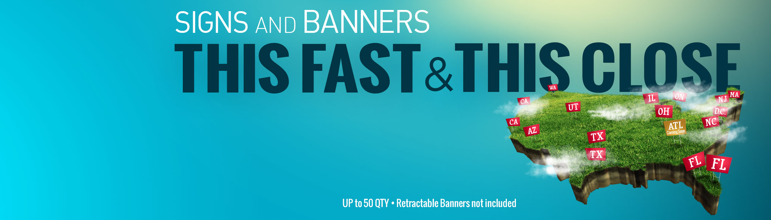Retractable banners full color printing